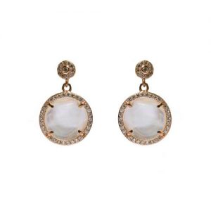 product rose earrings de silver pearl antiallergic mother pave round aires plated en gold earring of rhodium jewellery hanging and pacific