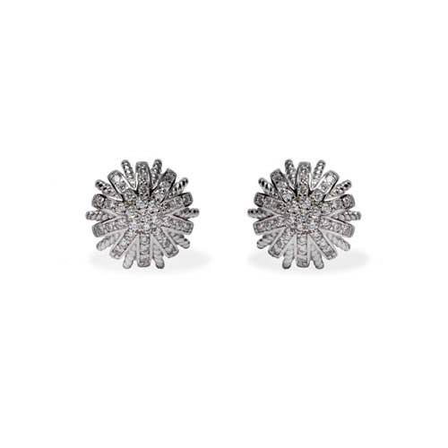 Liria Earring rhodium plated silver. Antiallergic