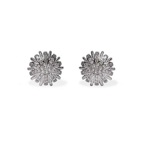 Liria Earring rhodium plated silver. Antiallergic