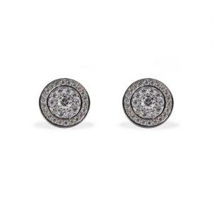 Imagen de los pendientes Orla plata rodiada y circonita blanca.