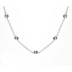 Collar inspiración Tiffany Sprinkel, plata rodiada y circonita blanca