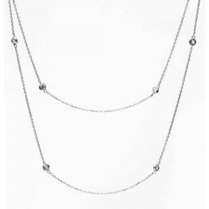 Imagen del collar inspiración Tiffany Sprinkel, rodiado y circonita blanca.